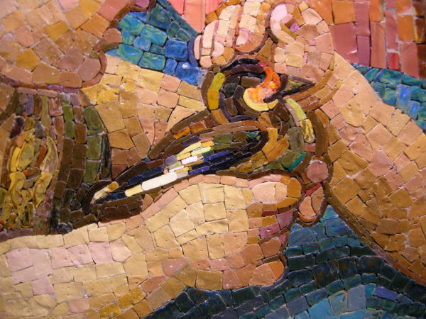 Close up of Raphael inspired mosaic