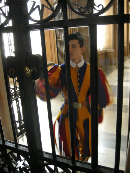Swiss Guard at gate